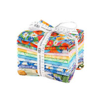 Lynna Washburn Vibrant Garden Fat Quarter Bundle 11pc Quilting Fabric FQ-1466-11