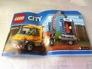 LEGO CITY 60073 Service Truck Instruction Manual/Booklet (No Bricks included)