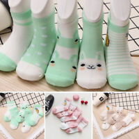 AU_ 5 Pairs Boys Girls Baby Summer Cartoon Cotton Mesh Middle Tube Socks Sanwood