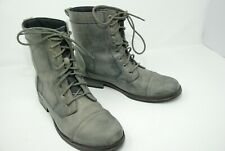 XELEMENT mens antique gray grey distressed motorcycle boots Lace up Size 9 $159