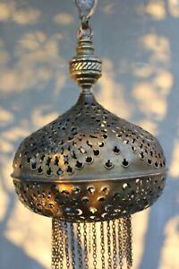 Vintage Moroccan Pendant Light Metal Oriental Hanging Chandelier Lamp Islamic St