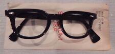 Vintage American Optical Hybrid Stadium Black 44/20 Men's Plastic Eyeglass Frame