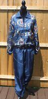 Vintage Slade Women's Track Suit Size S Retro 80s 90s Jacket & Pants Windbreaker