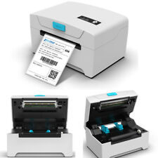 WIFI White 80mm Thermal Label Printer Continuous Paper Barcode Printing Machine