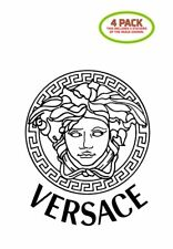 Versace Medusa Sticker Vinyl Decal 4 Pack