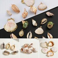 von Schmuck Shell Anhänger Halsband Ohrringe Natürliche Muschel Conch