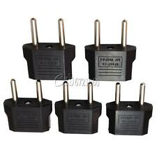 5Pcs US/USA to European Euro EU Travel Charger Adapter Plug Outlet Converter