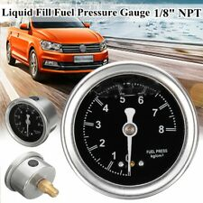 Oil Fuel Pressure Gauge Regulator 1/8'' NPT PSI 0-8Kg /Cm² Liquid Fill For Chevy