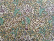 William Morris Curtain Fabric 'Windrush' 2.9 METRES (290cm) Gold/Thyme - Cotton
