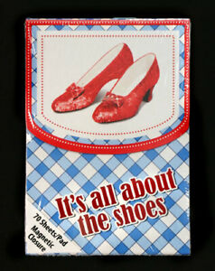 New -Lot of 3- It's All About the Shoes Magnetic Wizard of Oz Notepads by Vandor