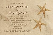 Wedding Invitations Beach & Starfish  50 Invitations & RSVP Cards