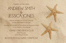 Wedding Invitations Beach & Starfish  50 Invitations & RSVP Cards