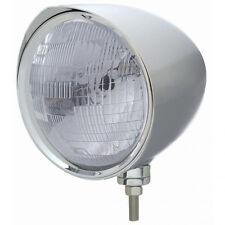 """Chrome 7"""" Billet Style """"CHOPPER"""" Headlight w/ Razor Visor - H6024 Halogen Bulb"""