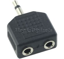 3.5mm Male to 2/Dual 3.5mm Female Jack Mono Y Splitter Cable Adapter Connector