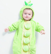 BABY INFANT PEAPOD HALLOWEEN COSTUME BABY BUNTING PLUSH Costume Size 0-6 Months