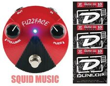 Dunlop Germanium Fuzz Face Mini Red Guitar Effects Pedal FFM2 ( 3 STRING SETS )