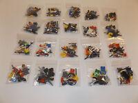 Lego lot of 2 Random Mini Figs mini figures minifigures with accessories