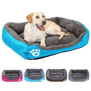 Soft Dog Beds Pet Sleeping Cushion Warm Padded Sofa Kennel Small Large Dog Crate
