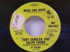 """TONY SANDLER & RALPH YOUNG """"MORE AND MORE / IMAGINE ME"""" 45 PROMO"""