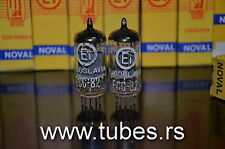 Matched Pair ECC82 12AU7 EI Yugoslavia Telefunken Long Smooth Plates 17mm NIB