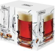 Beer Mugs Drink Ware Libbey Brewmaster 15 Oz Beer Dishwasher Safe SET OF 6
