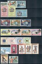 JAMAICA 360-464 SG359-492 MNH 1971-79 Commemoratives 9 sets, 2 singles Cat$10