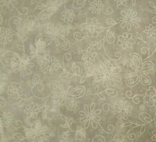 Butterfly Floral Gray Blender BTY Fabric Traditions Tonal Tone-On-Tone