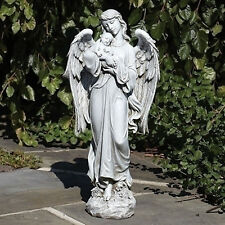 """25.5"""" Guardian Angel Holding Baby Outdoor Garden Statue Joseph's Studio # 600047"""