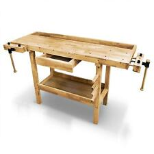 Berlan Etabli de menuisier en bois table banc de travail 1370 x 500 x 870 mm
