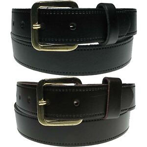 Extra Strong Superb Quality Leather Mens Casual Belt Width 30mm Made In England