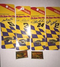 Lot Of 6 NASCAR Pins-4 Winston Cup Pit Stop Hat Pins & 2 Wincraft Stamp Pins.