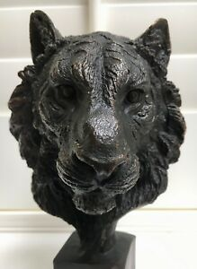 Lion Head Limited edition in solid bronze hotcast sculpture Uk artist Uk Foundry