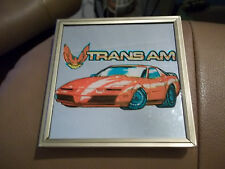 "New! 1970's Pontiac Trans Am Red Car Framed Wall Decor Art Mirror 4"" x4"" Picture"