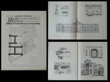 AIX EN PROVENCE, ECOLE NORMALE - PLANCHES ARCHITECTURE 1890 - JOSEPH LETZ