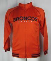Denver Broncos Big & Tall Embroidered Orange Full Zip Track Jacket NFL