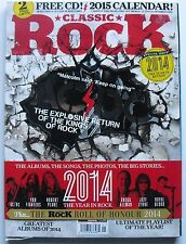 AC/DC 2014 CLASSIC ROCK +FREE CD! & 2015 CALENDAR! 50 GREATEST ALBUMS OF 2014