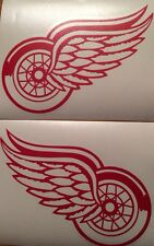 """Detroit Red Wings Qty 2 Decals 5""""x7""""  Red Vinyl ** FREE SHIPPING**"""