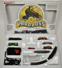 BACHMANN YARD BOSS N SCALE ELECTRIC TRAIN SET LOCOMOTIVE WITH TENDER AND 4 CARS