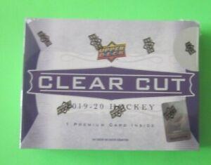 2019-20 Upper Deck Clear Cut Hockey Factory Sealed Hobby Box
