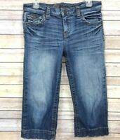 """Kut from the Kloth Womens Capri Jeans Size 6 Distressed Thick Stitch 20"""" Inseam"""