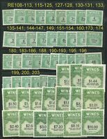 GENUINE-SCOTT-RE108/203-MINT-NGAI-NH-SET-OF-56-WINE-STAMPS-DEALER-CLOSEOUT
