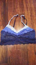 Victoria's Secret Bralette PINK Medium Blue Wire-Free