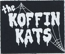 THE KOFFIN KATS webs logo CLOTH PATCH -sew on punk psychobilly **FREE SHIPPING**