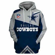 Dallas Cowboys Hoodie Mens Casual Football Sweatshirts Pullover Fans Coat Jacket