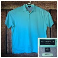 Peter Millar Collection Perfect Pique Polo Shirt Mens Size XL Light Blue