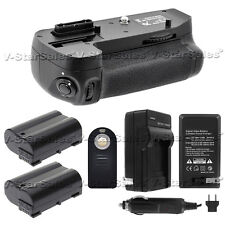 Battery Grip For Nikon D7100 + 2x EN-EL15 Batteries + AC/DC Charger