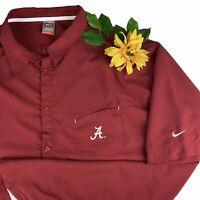 Nike Dri-Fit Alabama Crimson roll Tide Mens 4XL Red Polo Shirt button down