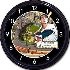 "Ted Williams Park Boston Red Sox Fenway Baseball Card Wall Clock MLB New 10"""
