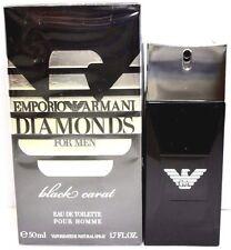 EMPORIO ARMANI DIAMONDS FOR MEN BLACK CARAT EDT SPRAY 1.7 Oz / 50 ml BRAND NEW !