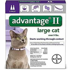 Bayer Advantage II For Large Cats over 9lbs U.S EPA Approve Product 2 Pack